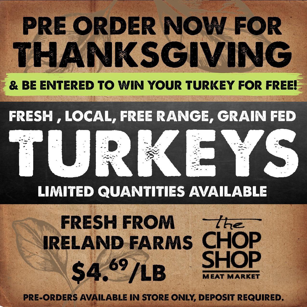 Thanksgiving Turkey Order  Pre order your Thanksgiving Turkey now