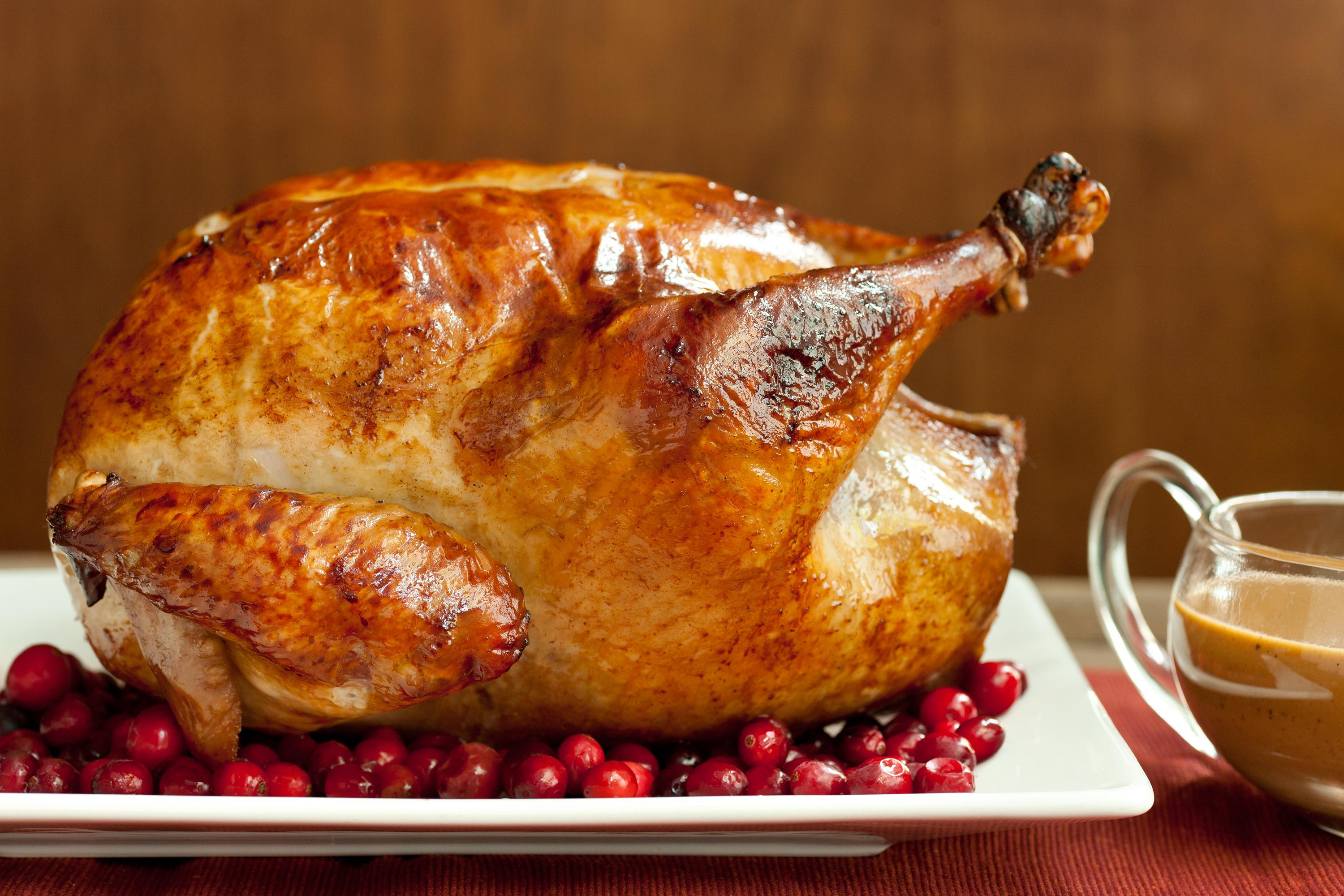 Thanksgiving Turkey Pictures  Easy Brined Roasted Turkey with Creamed Gravy Recipe