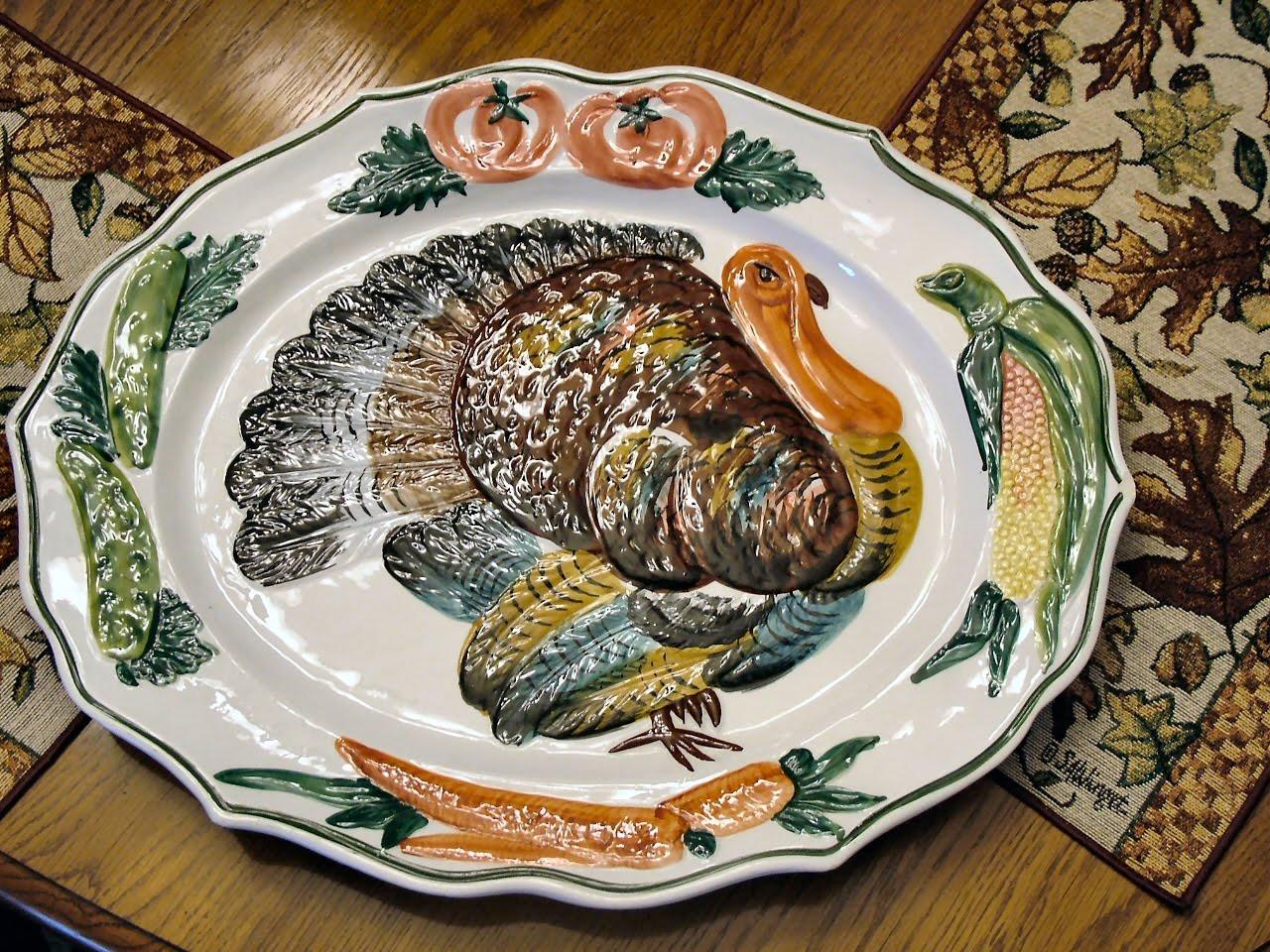 Thanksgiving Turkey Platter  Chloe s Tips Creating a Thanksgiving Tradition I