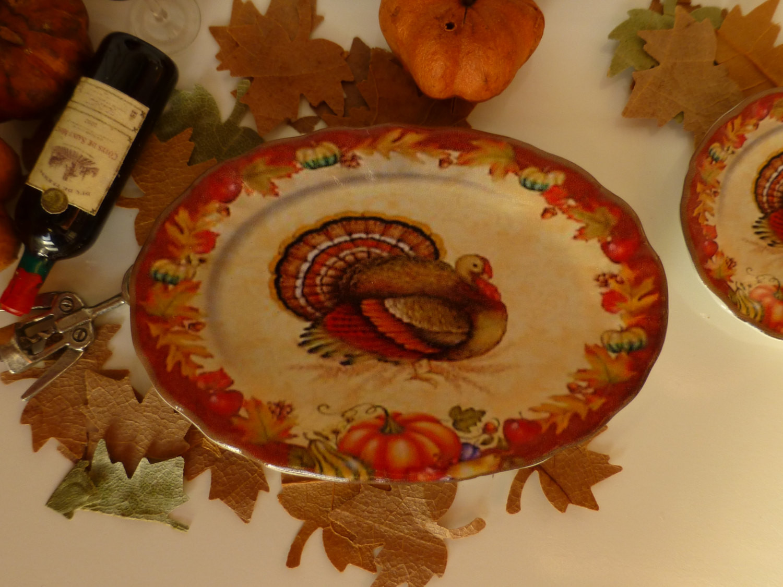 Thanksgiving Turkey Platter  Thanksgiving Turkey Platter for Dollhouse