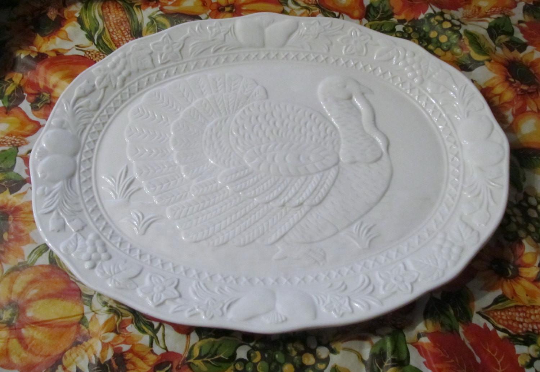Thanksgiving Turkey Platter  Turkey Platter White Thanksgiving Platter