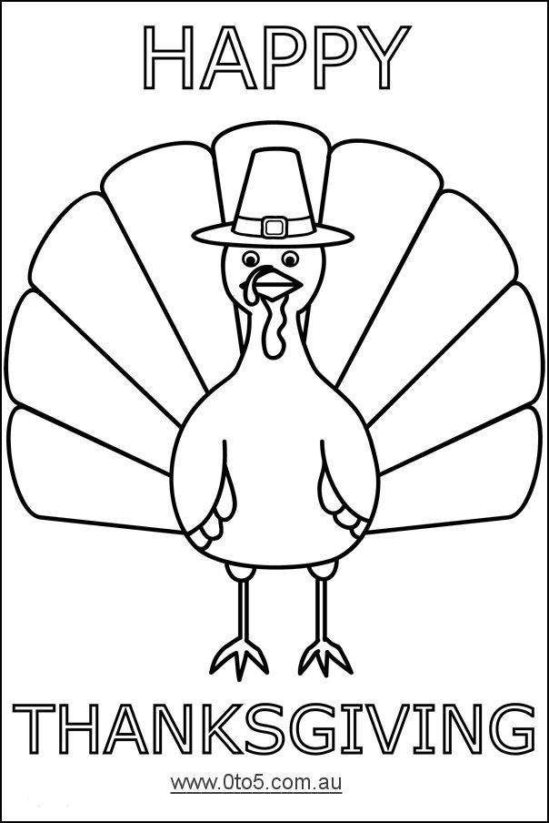 Thanksgiving Turkey Printable  Printable Turkey Template