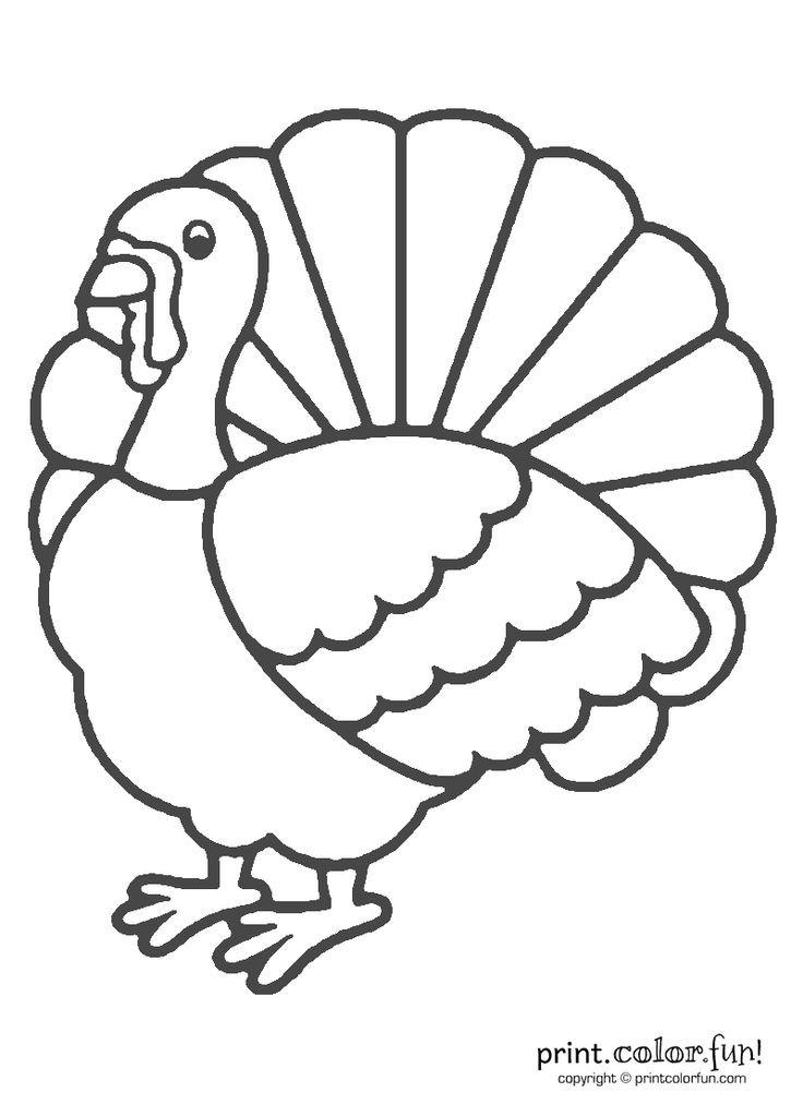 Thanksgiving Turkey Printable  Thanksgiving turkey coloring