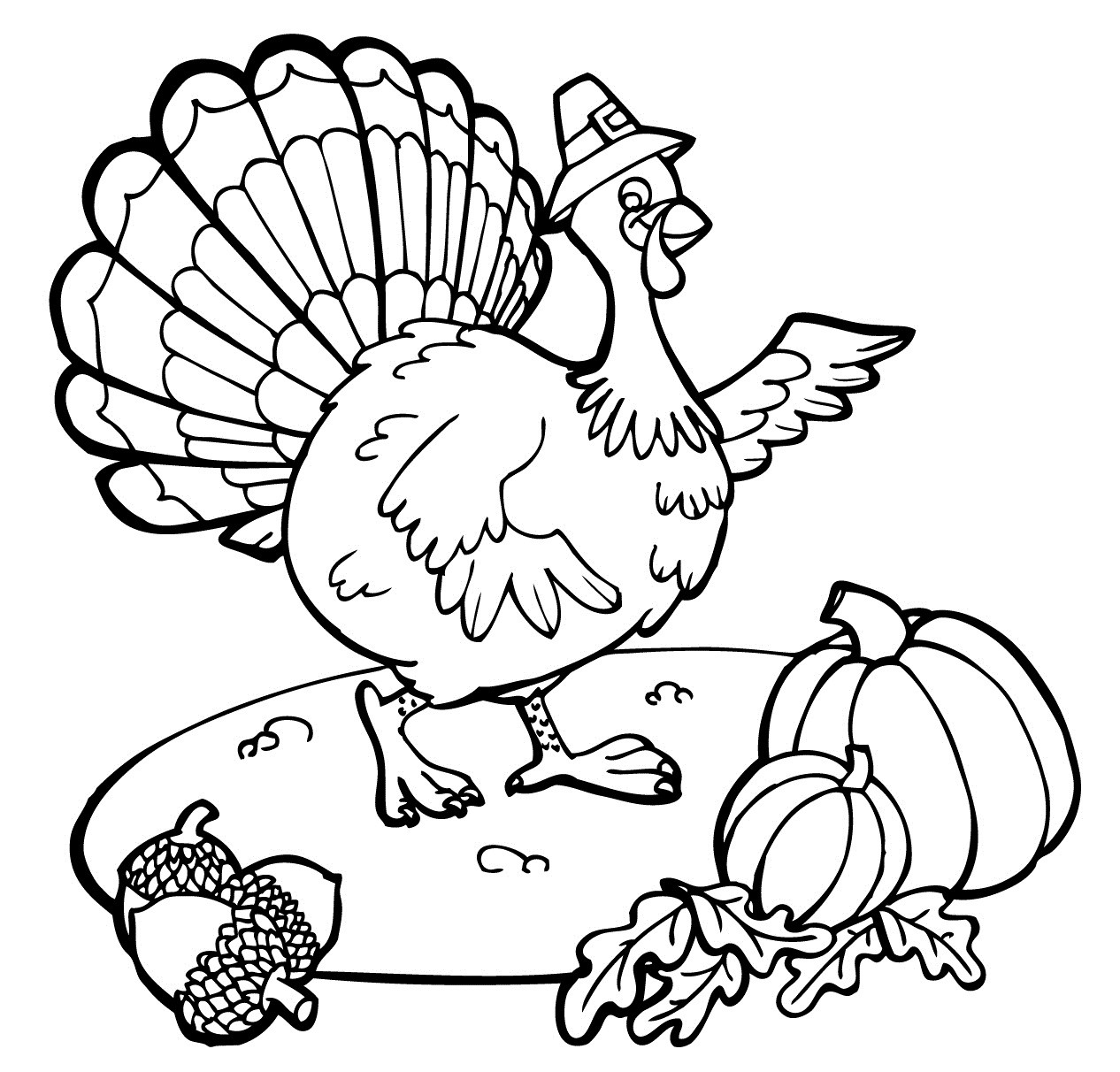 Thanksgiving Turkey Printable  Free Printable Thanksgiving Coloring Pages For Kids