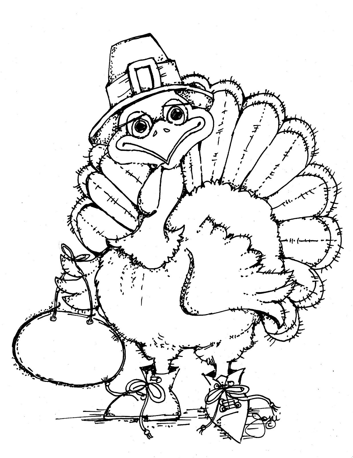 Thanksgiving Turkey Printable  Free Printable Turkey Coloring Pages For Kids