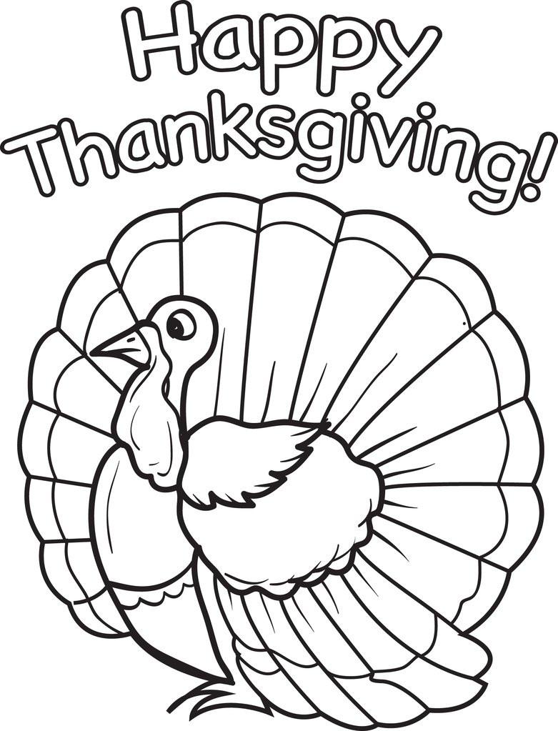 Thanksgiving Turkey Printable  FREE Printable Thanksgiving Turkey Coloring Page for Kids
