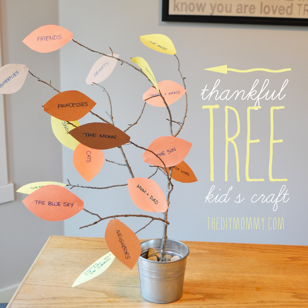 Thanksgiving Turkey Projects  Make a Thankful Tree A Thankgiving Kid s Craft – Tip