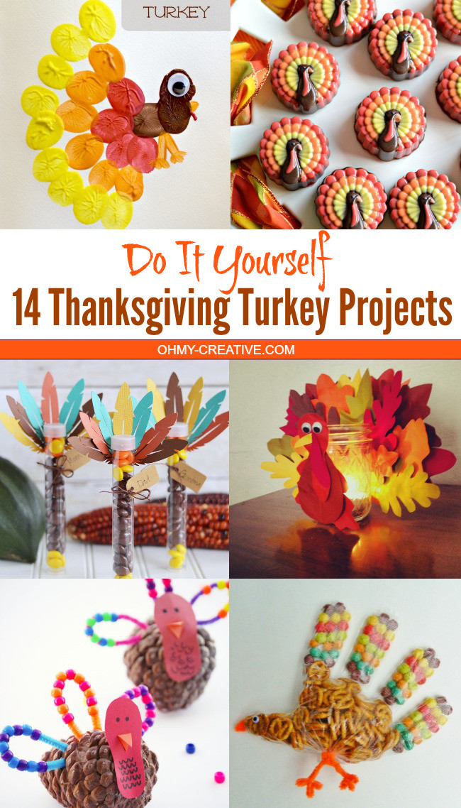 Thanksgiving Turkey Projects  Easy Thanksgiving Table Setting Ideas Oh My Creative