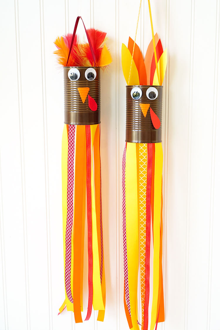Thanksgiving Turkey Projects  Thanksgiving Kids Craft Turkey Windsocks Happiness is