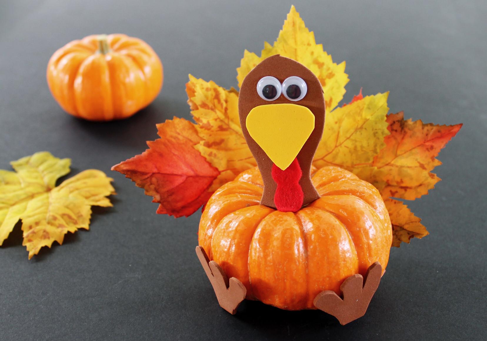 Thanksgiving Turkey Projects  Pumpkin Turkey Thanksgiving Craft for Kids Growing Up