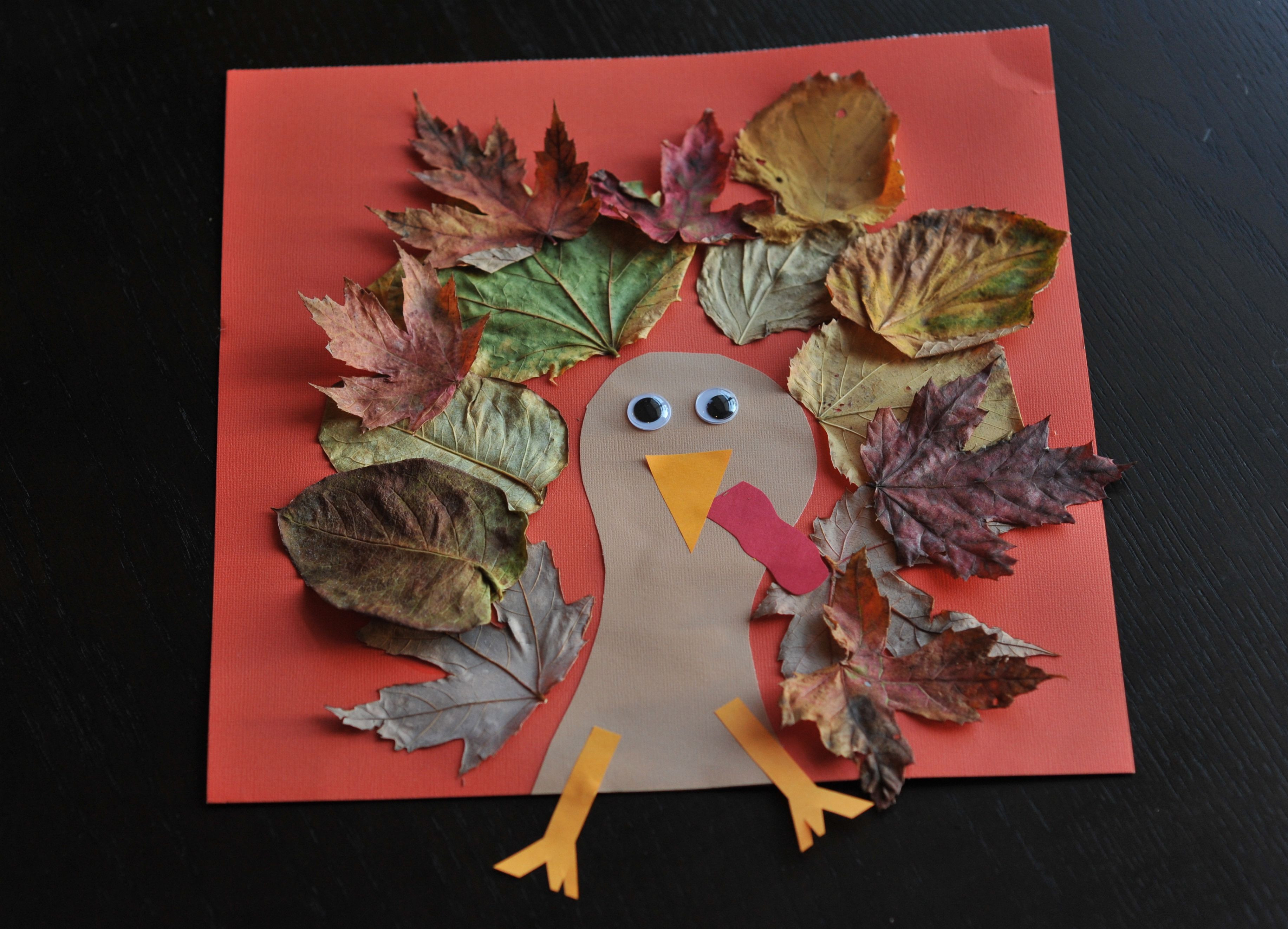 Thanksgiving Turkey Projects  Fall Turkey Craft with Leaves