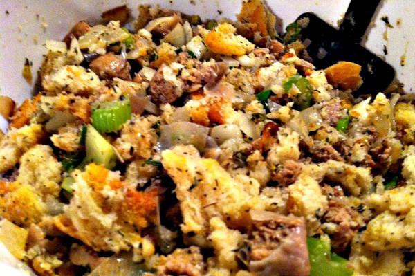Thanksgiving Turkey Recipe With Stuffing  Turkey sausage and herb stuffing recipe