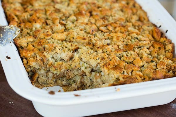 Thanksgiving Turkey Recipe With Stuffing  Traditional Bread Stuffing Recipe