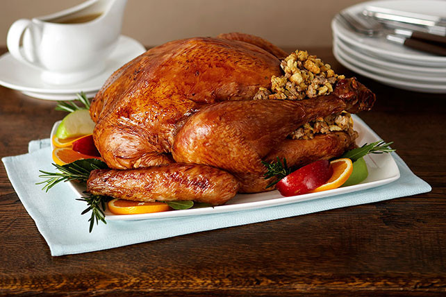 Thanksgiving Turkey Recipe With Stuffing  Roast Turkey with Sausage Stuffing Kraft Recipes