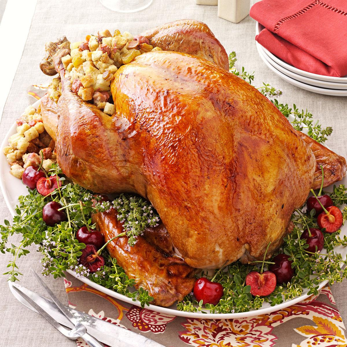 Thanksgiving Turkey Recipe With Stuffing  Turkey with Cherry Stuffing Recipe