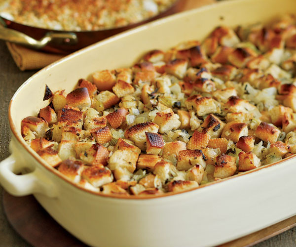 Thanksgiving Turkey Recipe With Stuffing  Classic Bread Stuffing Recipe Recipe FineCooking
