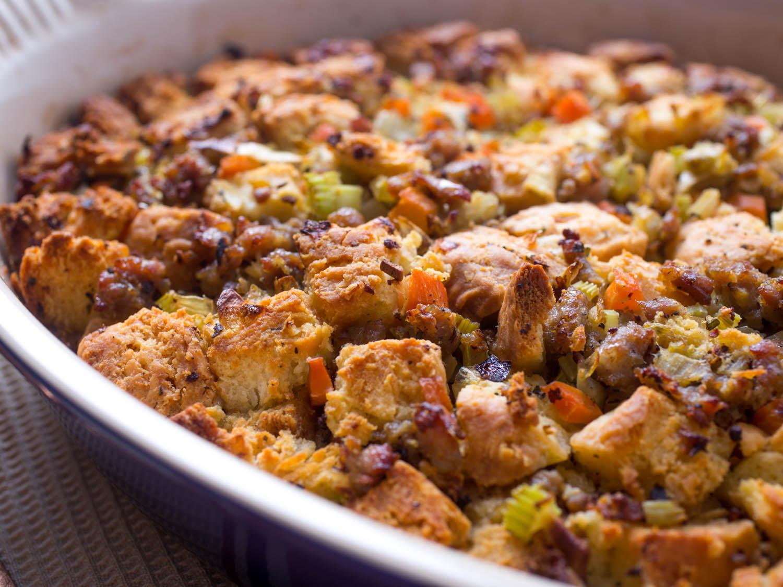 Thanksgiving Turkey Recipe With Stuffing  Popeye s Buttermilk Biscuit Stuffing Recipe