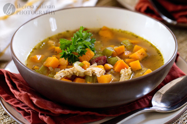 Thanksgiving Turkey Soup  Thanksgiving Soup with Turkey Sweet Potatoes and