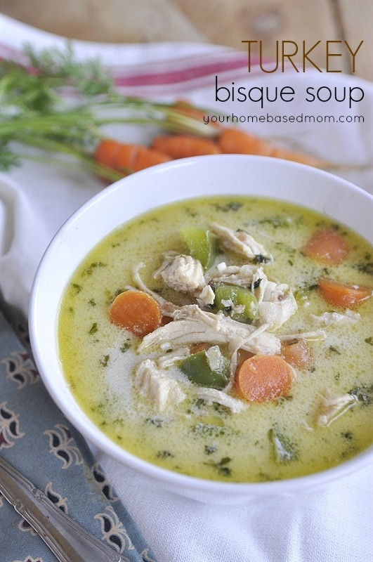 Thanksgiving Turkey Soup  Turkey Bisque Soup your homebased mom