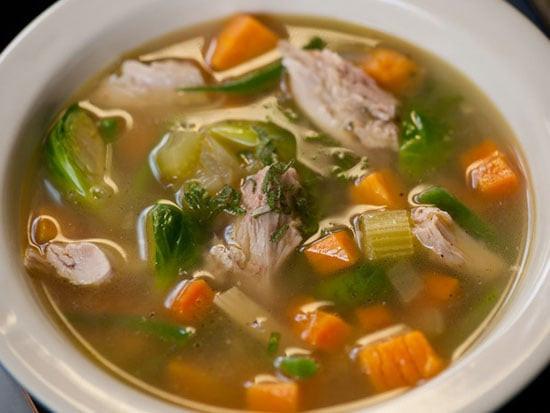 Thanksgiving Turkey Soup  Michael Chiarello s Leftover Thanksgiving Soup