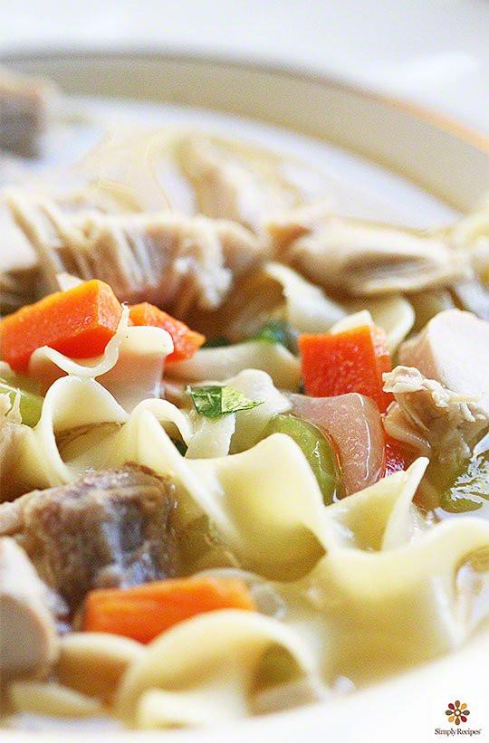 Thanksgiving Turkey Soup  Mom's Turkey Soup Recipe