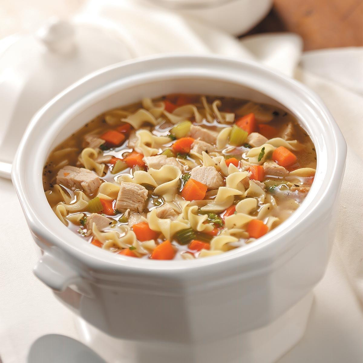 Thanksgiving Turkey Soup  Old Fashioned Turkey Noodle Soup Recipe