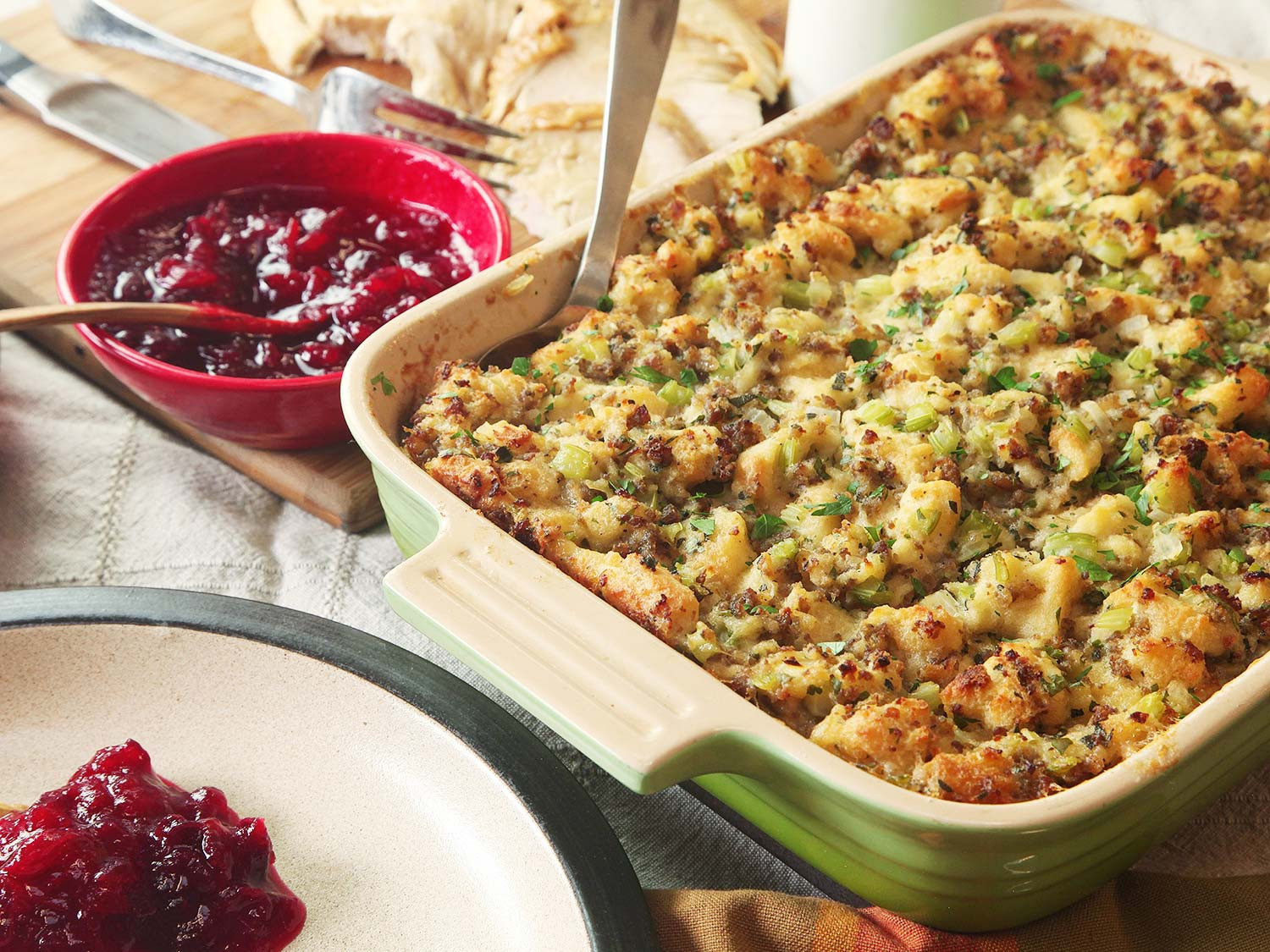 Thanksgiving Turkey Stuffing Recipe  Classic Sage and Sausage Stuffing or Dressing Recipe