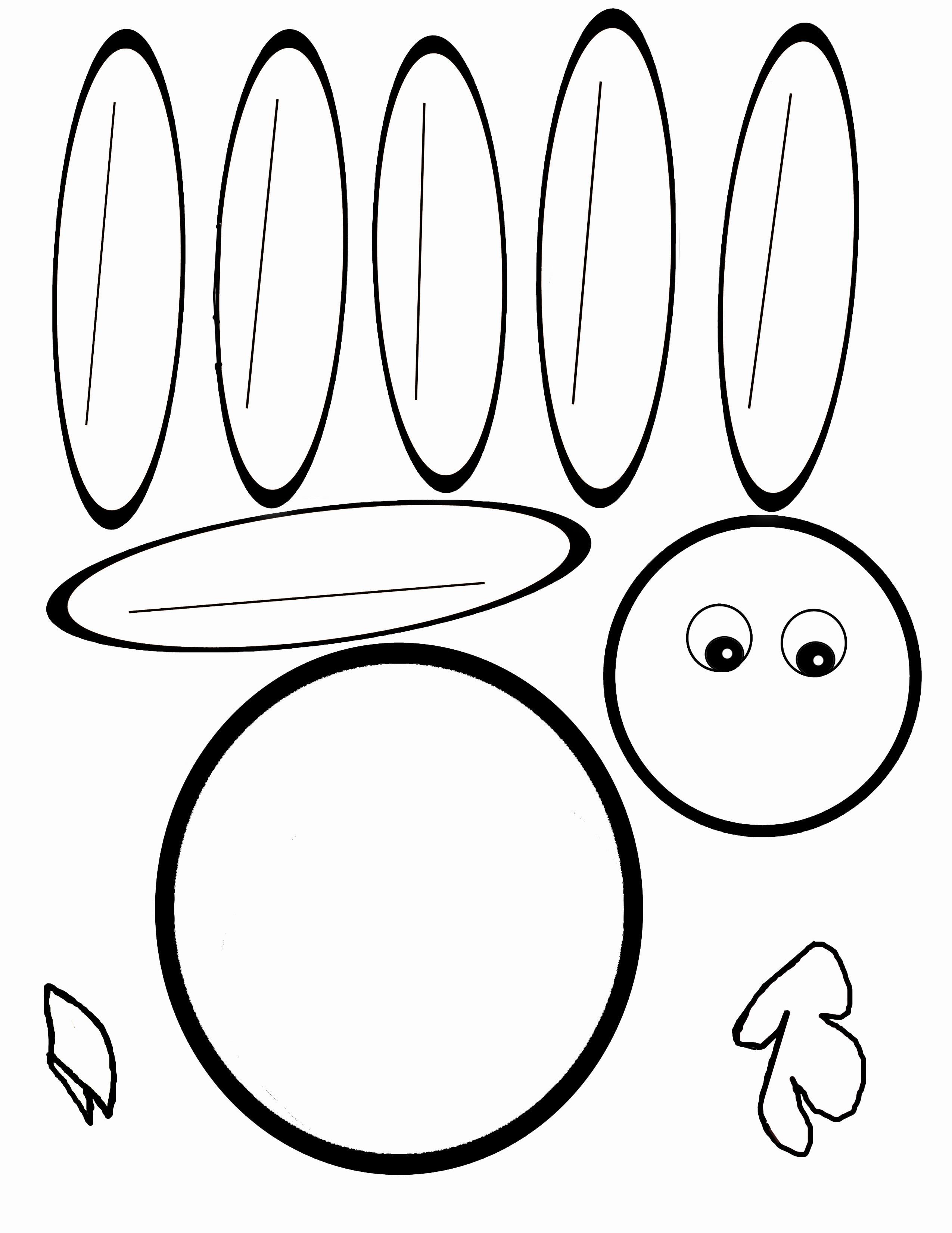 Thanksgiving Turkey Template  Scissor Cutting Turkey Template Therapy Fun Zone