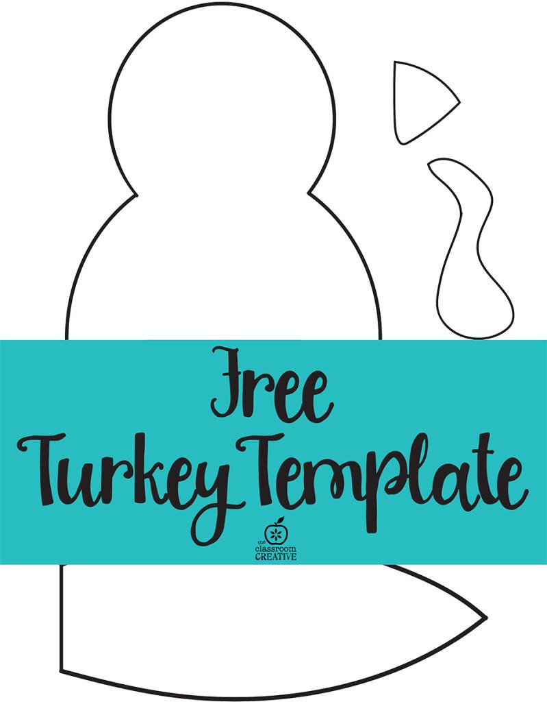 Thanksgiving Turkey Template  Turkey Craft for Kids