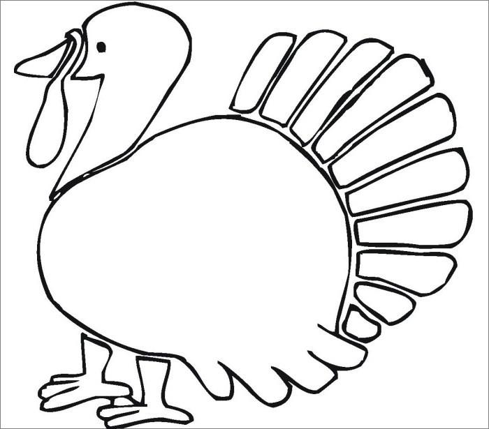 Thanksgiving Turkey Template  Turkey Template Animal Templates