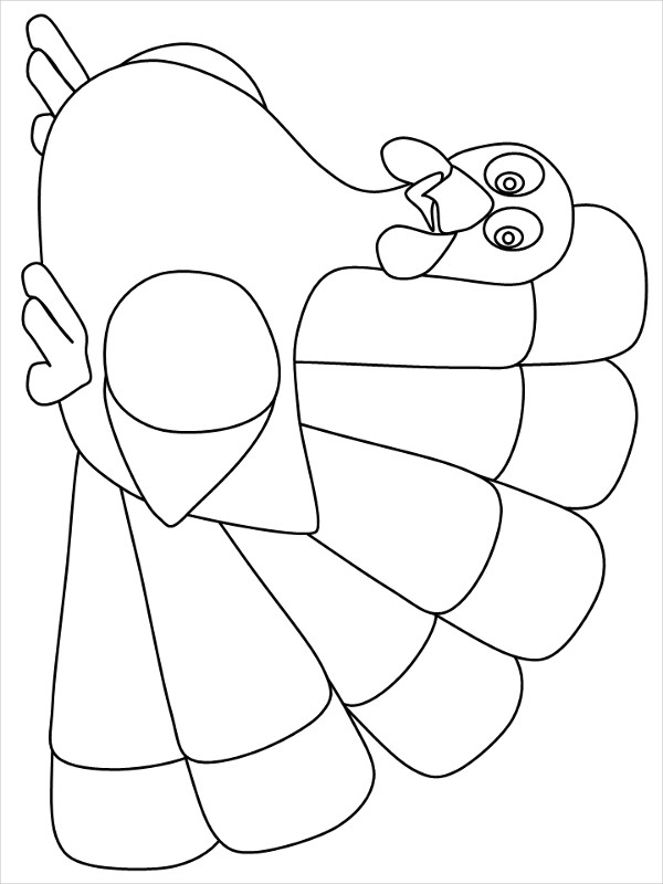 Thanksgiving Turkey Template  13 Turkey Shape Templates & Coloring Pages PDF DOC