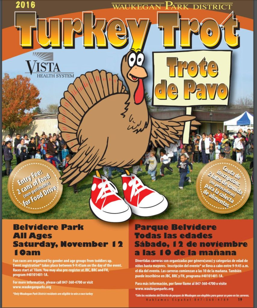 Thanksgiving Turkey Trot  Thanksgiving Themed Family Fitness in Lake County 2016