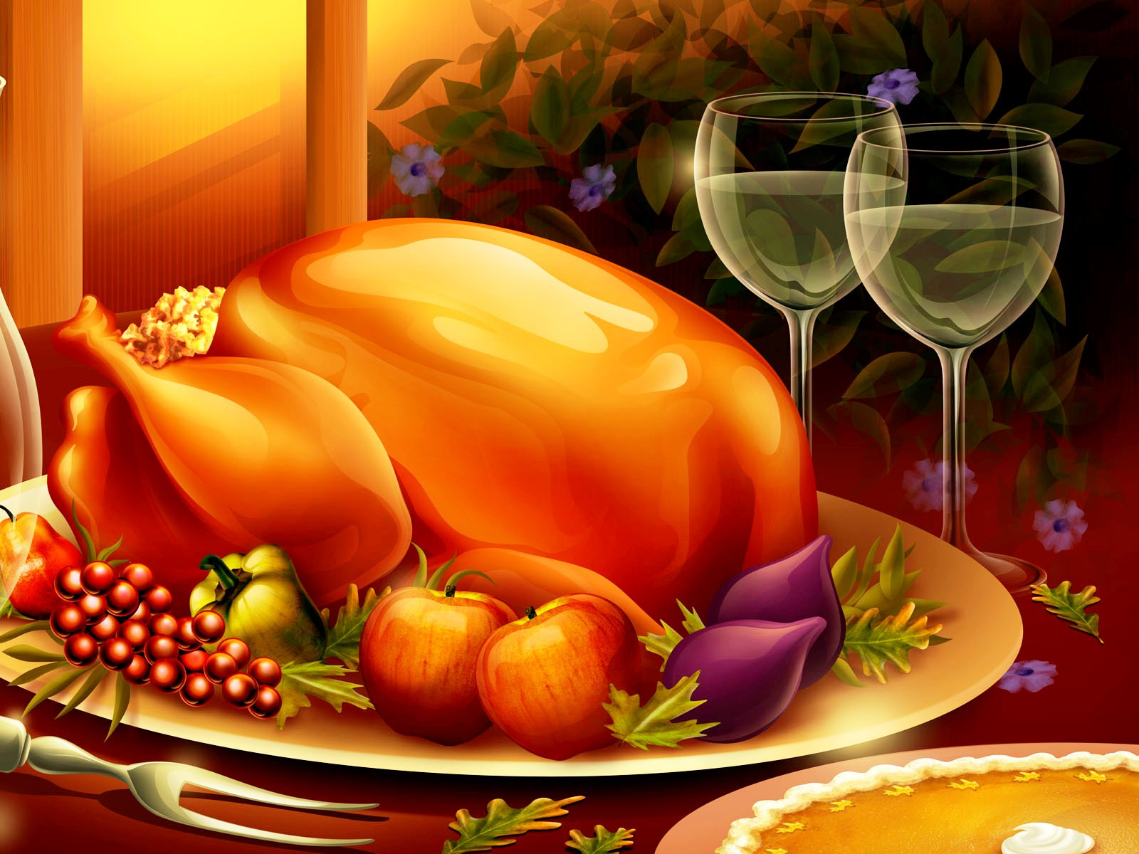 Thanksgiving Turkey Wallpaper  3D Thanksgiving Wallpapers HD
