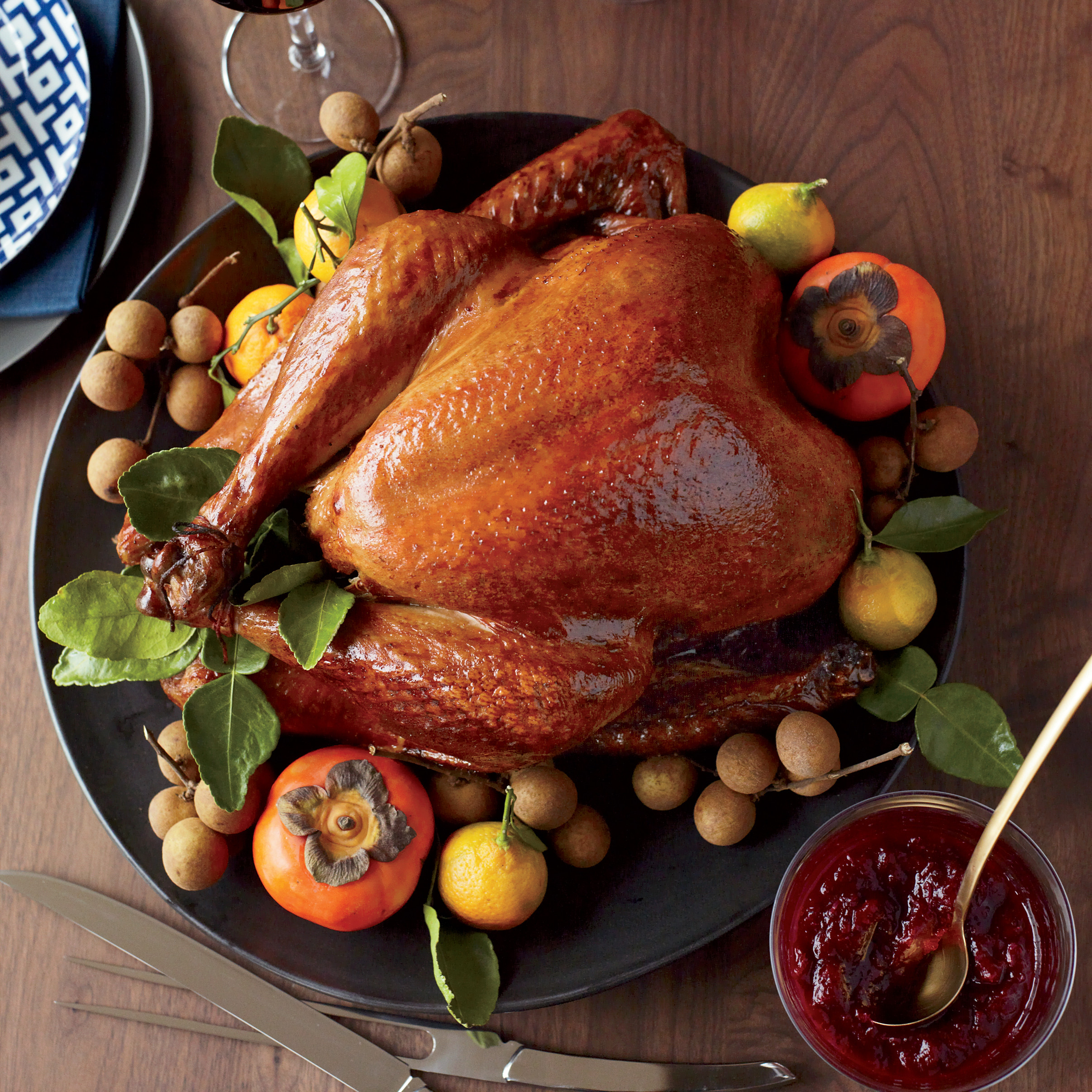 Thanksgiving Video Full Of Turkey  Soy Sauce and Honey Glazed Turkey Recipe Joanne Chang
