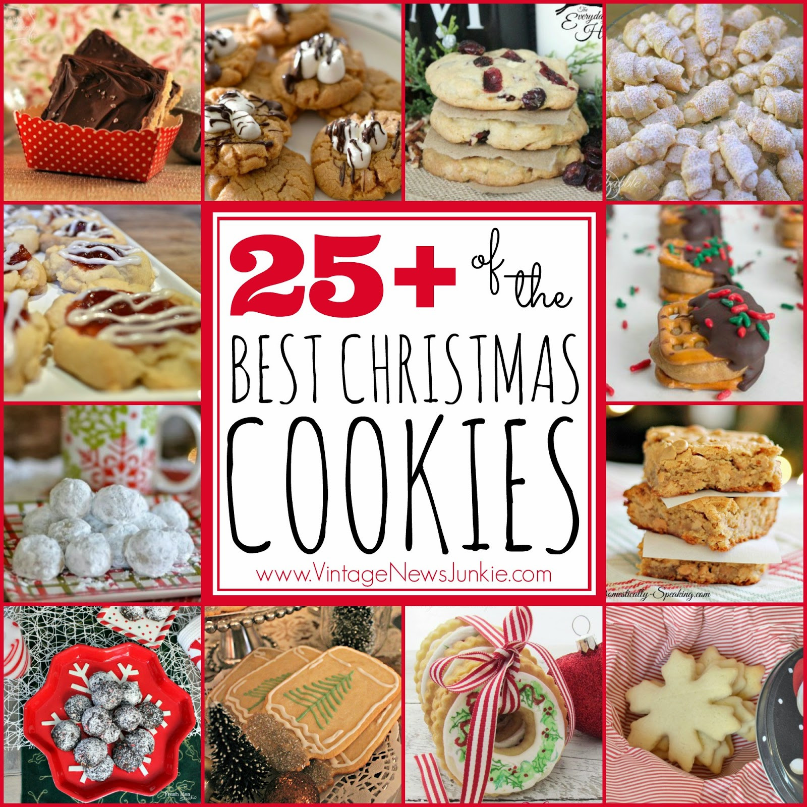 The Best Christmas Cookies  25 OF THE BEST CHRISTMAS COOKIE RECIPES Handy DIY