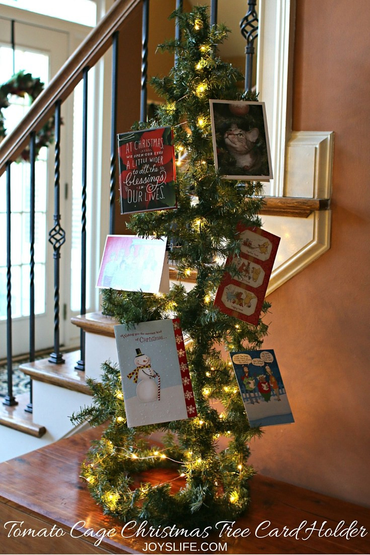 Tomato Cage Christmas Tree  How to Make a Tomato Cage Christmas Tree Card Holder