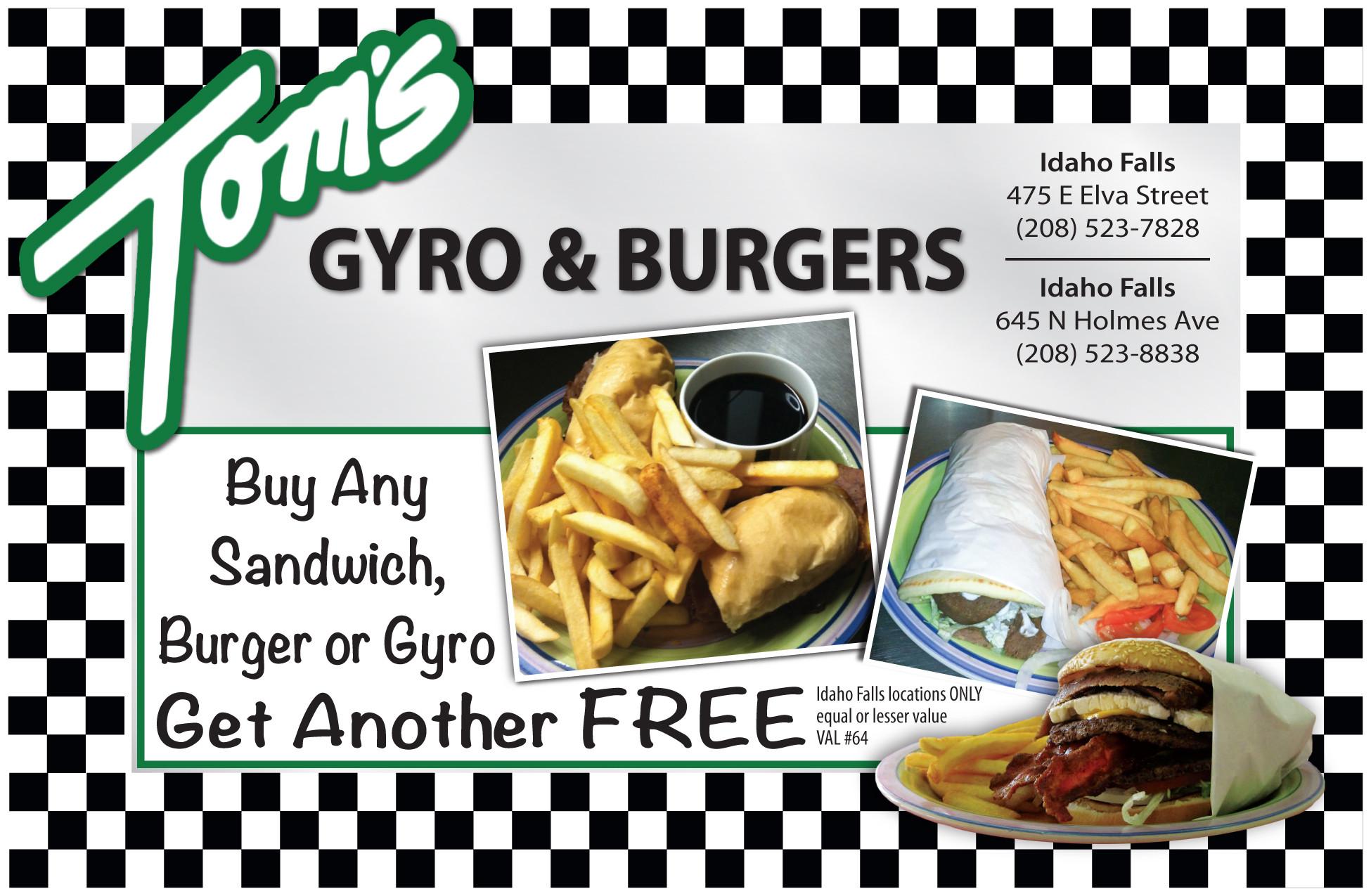 Toms Gyros Idaho Falls  Tom's Gyro & Burgers