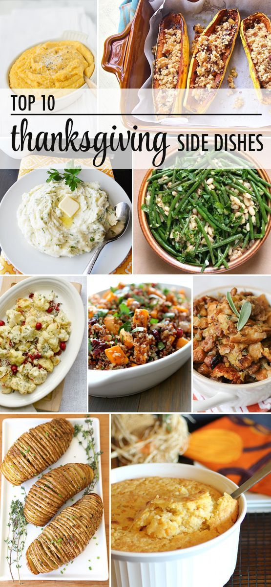 Top Thanksgiving Side Dishes  Top 10 Thanksgiving Side Dish recipes