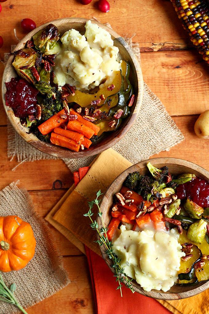 Top Vegetarian Thanksgiving Recipes  Roasted Vegan Thanksgiving Bowl I LOVE VEGAN