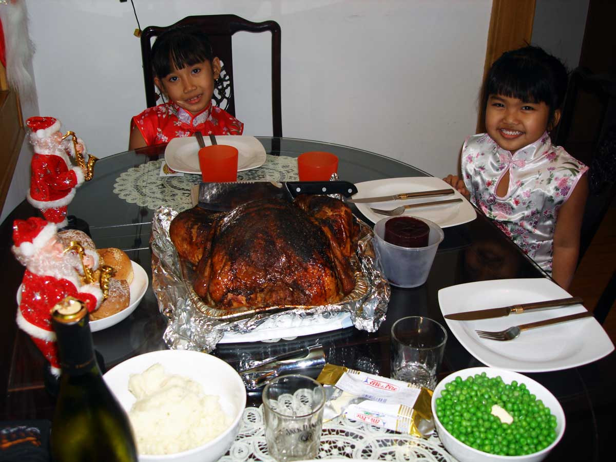 Traditional American Christmas Dinner  CHINA Travel Stories December 2006