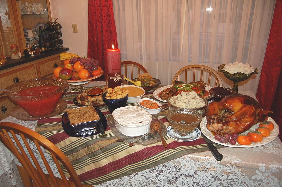 Traditional American Thanksgiving Dinner  Thanksgiving dinner