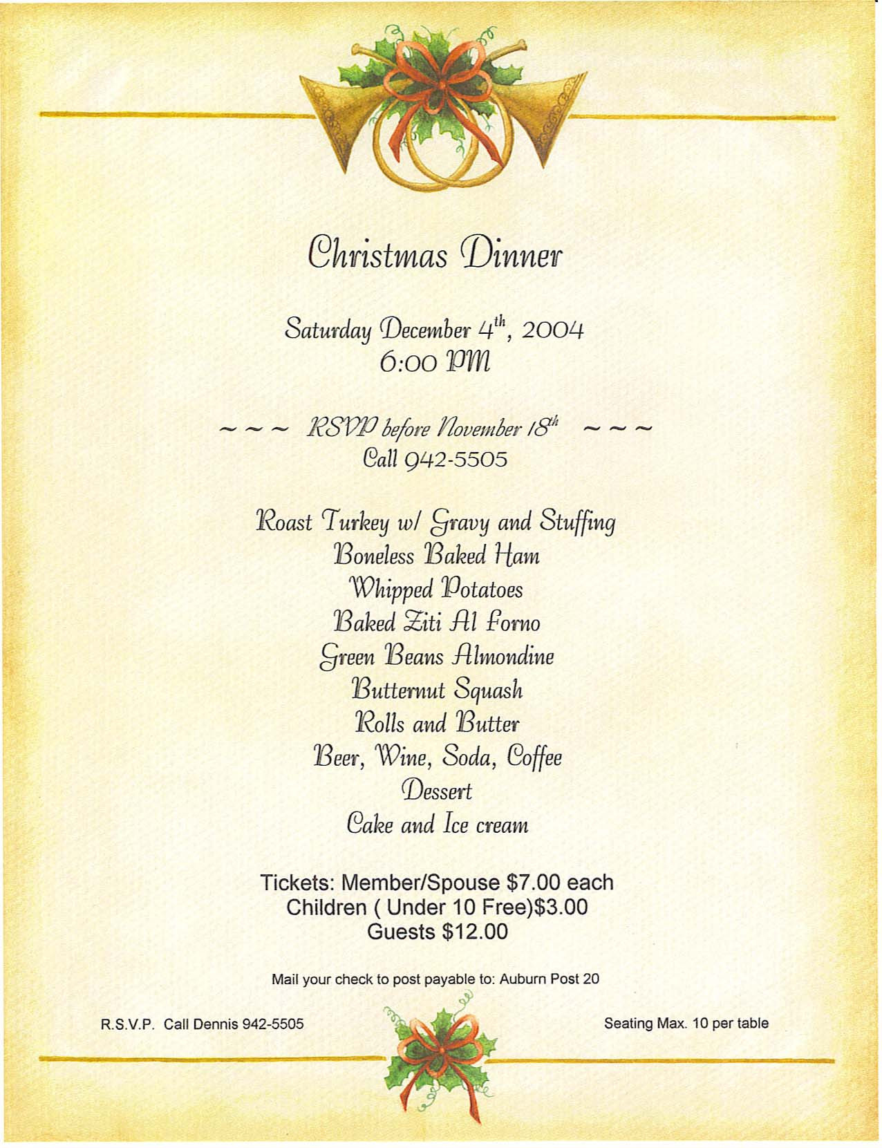Traditional Christmas Dinner Menu  20 Mouth Watering Christmas Dinner Menu