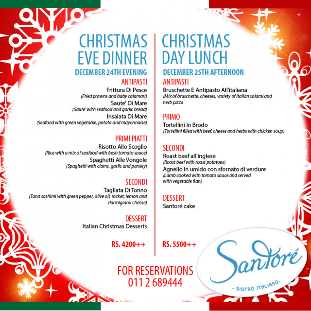 Traditional Christmas Dinner Menu  Christmas Eve Dinners In Colombo 2014 · YAMU