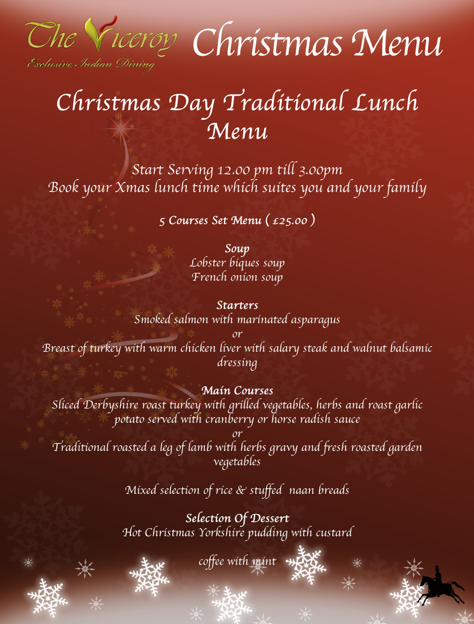 Traditional Christmas Dinner Menu  The resource cannot be found