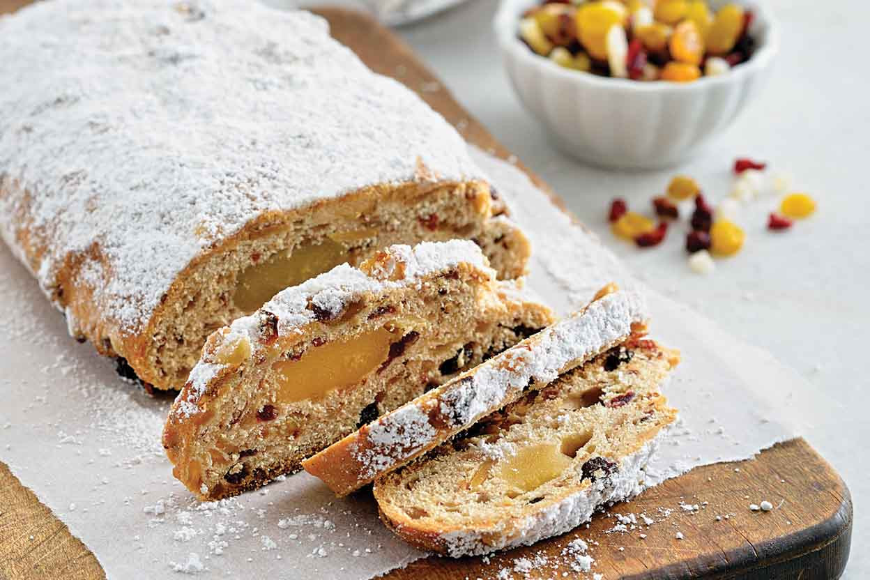 Traditional Christmas Sweet Bread  Christmas Stollen Recipe
