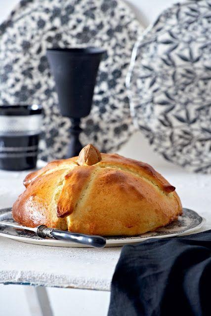 """Traditional Christmas Sweet Bread  """"Christopsomo"""" Greek Traditional Christmas spiced sweet"""