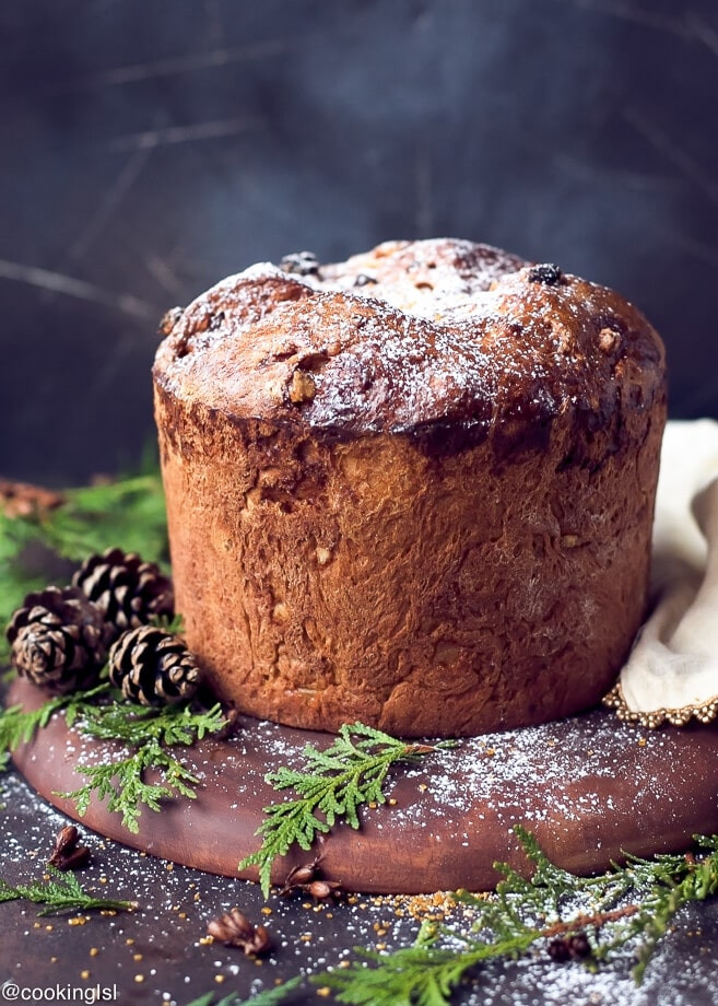 Traditional Christmas Sweet Bread  Easy Homemade Italian Christmas Bread Panettone Recipe