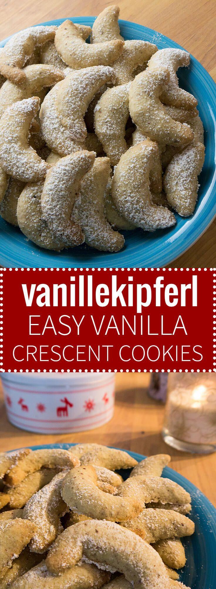 Traditional German Christmas Desserts  Vanillekipferl German Vanilla Crescent Cookies are