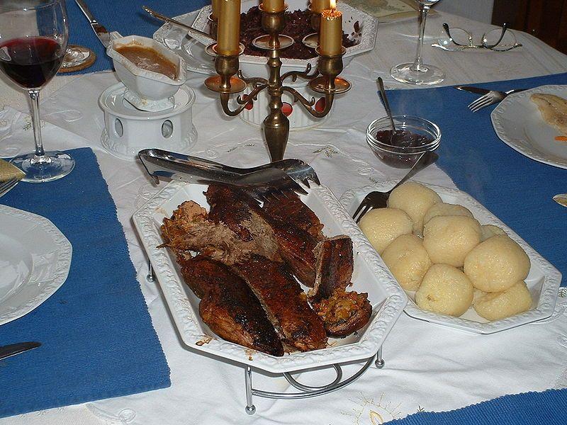 Traditional German Christmas Dinner  Weihnachtsgans or Roasted Goose recipe original German