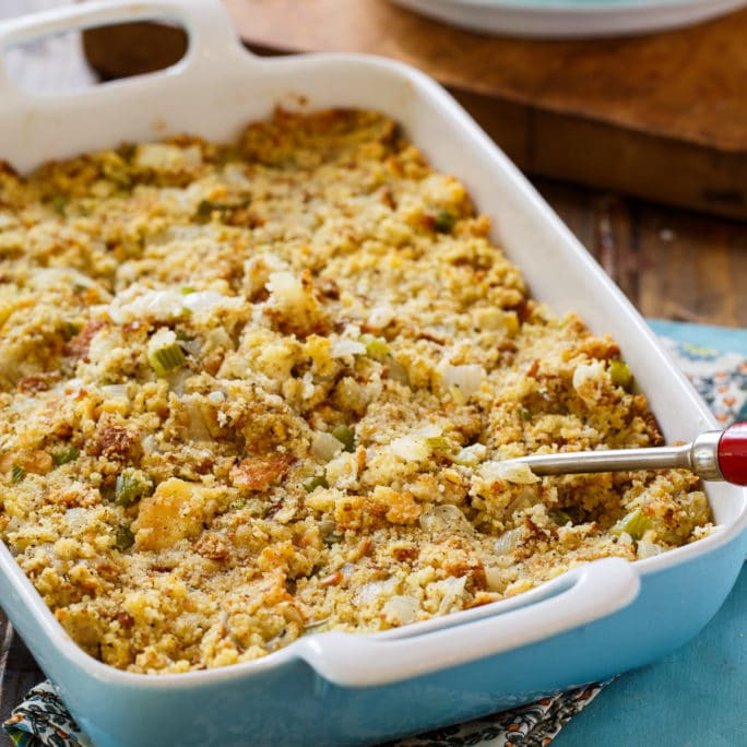Traditional Southern Thanksgiving Dinner Menu  Southern Cornbread Dressing Spicy Southern Kitchen
